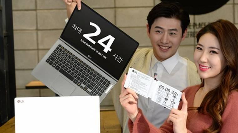 24 órás üzemidőt ígérnek az új LG Gram laptopok kép