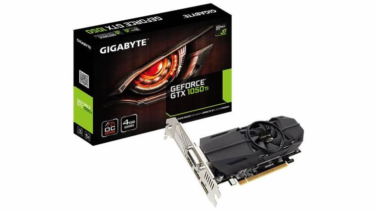 Bemutatkoztak az alacsony profilú Gigabyte GTX 1050 kártyák kép
