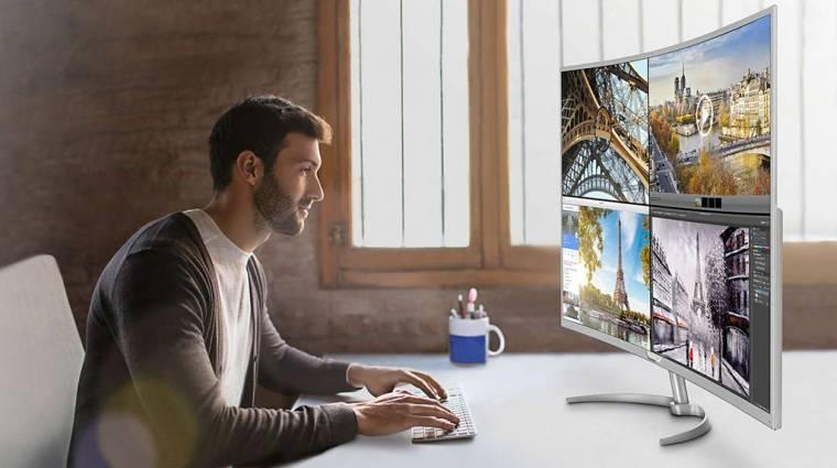 Piacra került a Philips hajlított 4K monitora kép