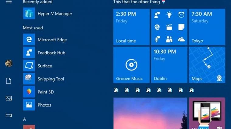Rengeteg újítást kapott a Windows 10 új előzetese kép