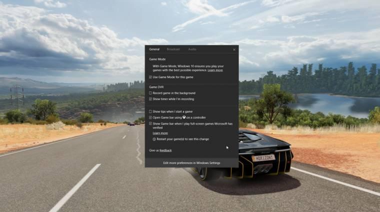 Ma jön a játékos mód a Windows 10 előzetesébe kép