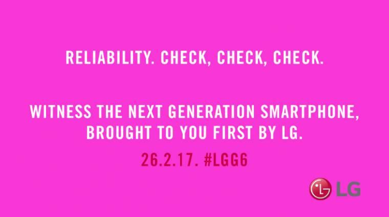 Az LG eddigi legmegbízhatóbb modellje lesz a G6 kép