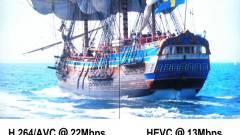 A PC-k és mobilok ellensége: H.265 kép