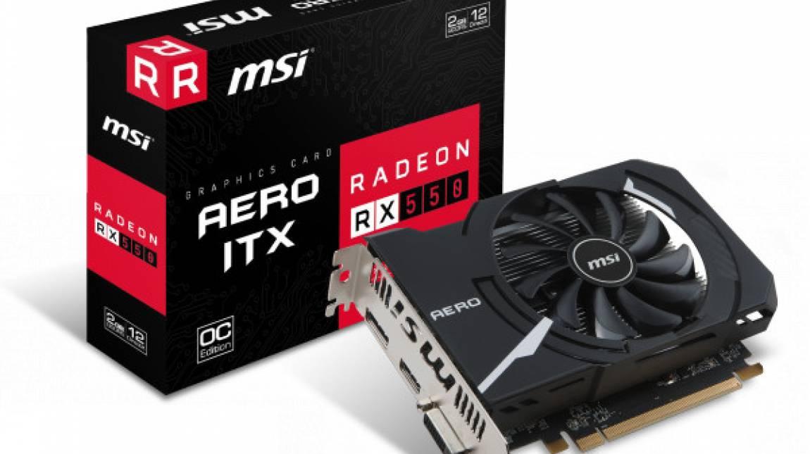 Az eSport-videokártya: MSI Radeon RX 550 Aero ITX 2 GB OC teszt kép