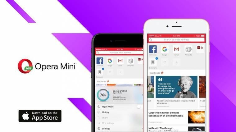 Ezért akarsz majd Opera Minivel böngészni az iPhone-odon kép