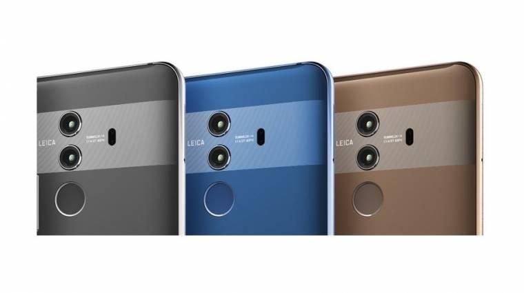 Érdekes színekben bukkant fel a Huawei Mate 10 Pro kép