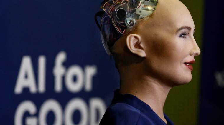 Elpusztította volna az emberiséget, most állampolgárságot kapott a robot kép