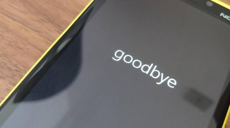 Így tűnik el végleg és örökké a mobilos Windows kép
