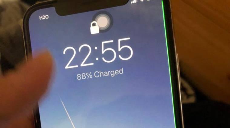 Zöld csík bosszantja az iPhone X-tulajdonosokat kép