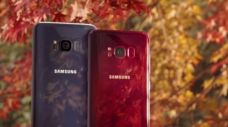 A burgundi vörös az utolsó Galaxy S8 kép