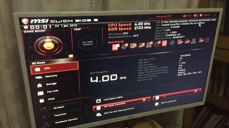 Z170-es alaplappal is eldöcög az Intel Core i3-8350K? kép