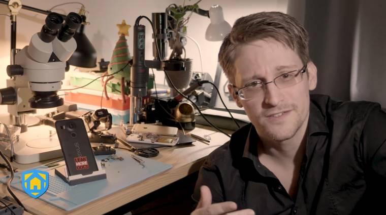 Így csinál megfigyelőrendszert a régi mobilodból Edward Snowden kép