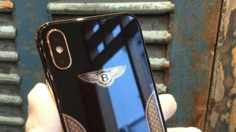 Gazdag különcöknek való az iPhone X Bentley Edition kép