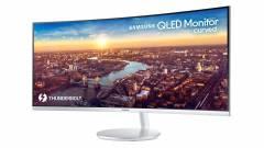 Thunderbolt 3-as és QLED-es a Samsung új monitora kép