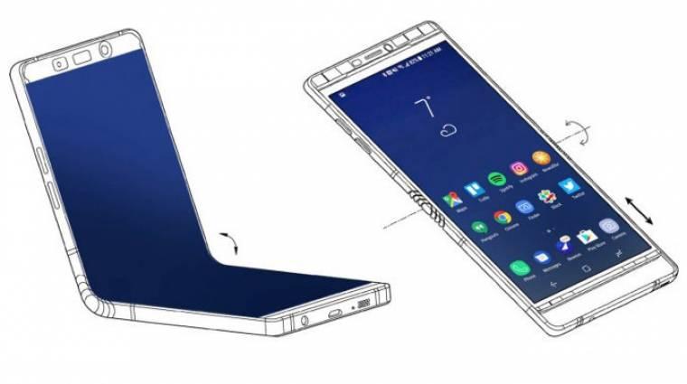 A CES egyik legnagyobb rejtélye volt a Samsung összehajtható okostelefonja kép