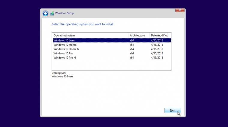 Olcsó PC-kre szabták a Windows 10 Lean verziót kép