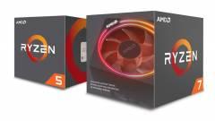 5,88 GHz-en az AMD Ryzen 7 2700X és a Ryzen 5 2600X kép