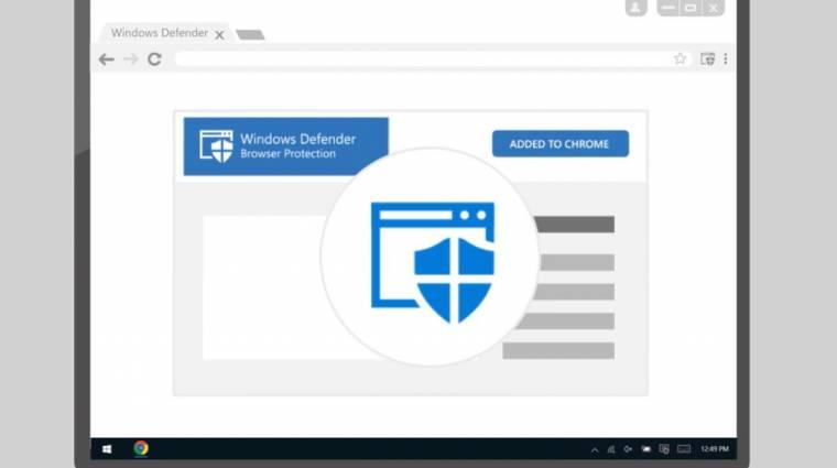Már a Chrome böngészőt is védi a Windows Defender kép