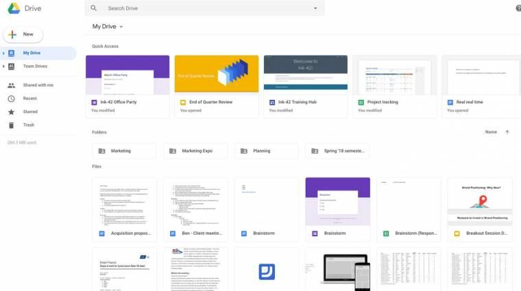 Passzol az új Gmailhez a megújult Google Drive kép