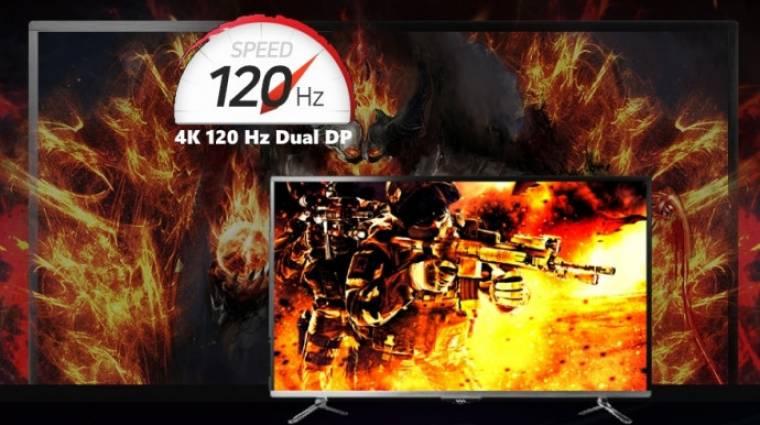 Itt az első 4K-s, 120 Hz-es gamermonitor kép