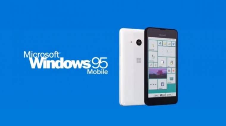 Ilyen lenne a Windows 95 okostelefonon kép