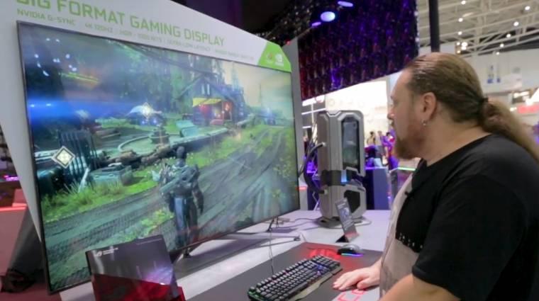 Videón a játékos monitorok Godzillája kép