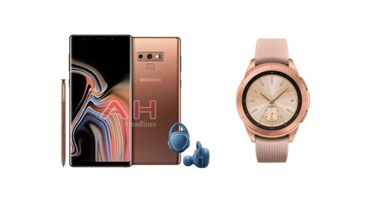 Újabb képeken a Galaxy Note 9 és a Galaxy Watch kép