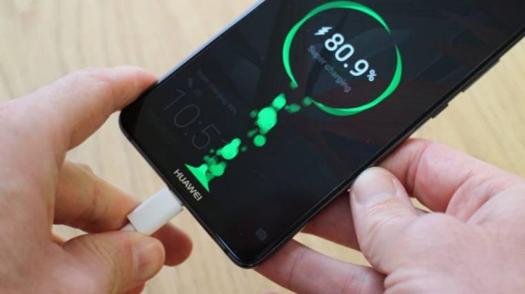 Jönnek a Huawei szupergyors töltői kép