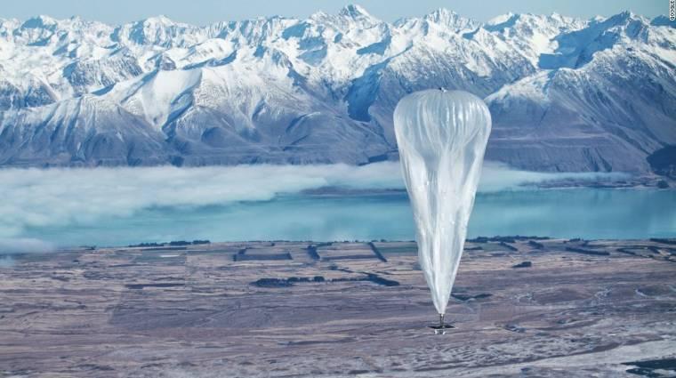 1000 kilométerről küldtek adatokat a Google léggömbjei kép