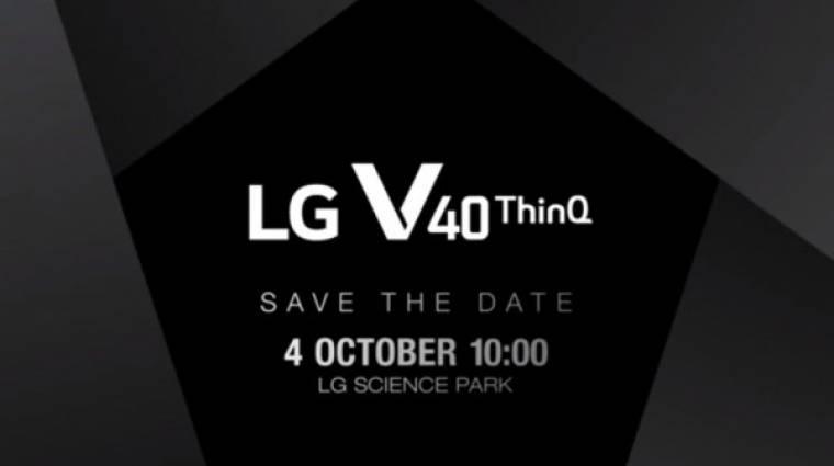 Október 4-én jön a tripla kamerás LG V40 ThinQ kép