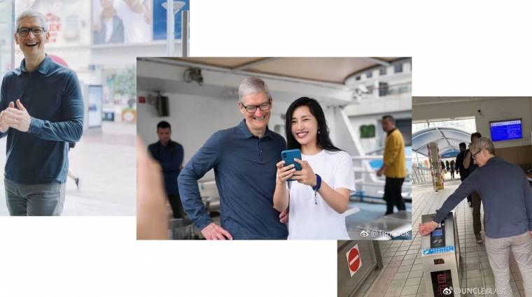 Kínában próbálja megmenteni az iPhone-okat Tim Cook kép