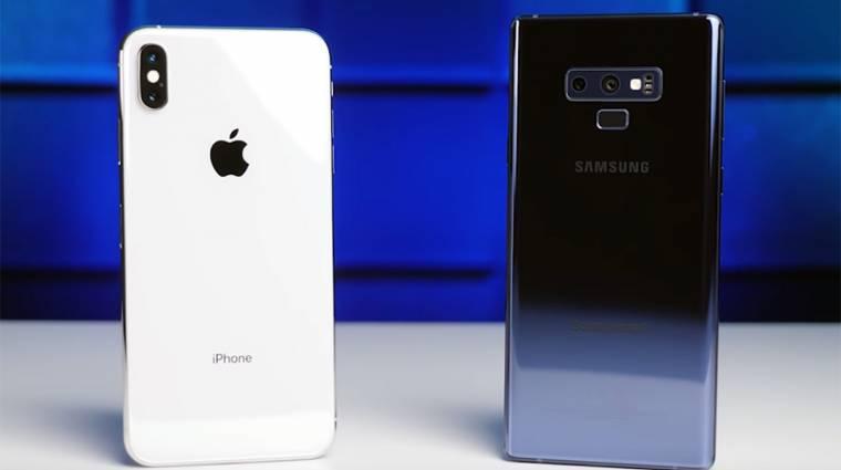 Az iPhone XS Max nem győzi le a Galaxy Note 9-et kép