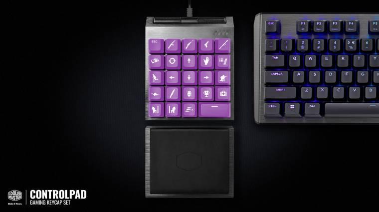 A gamerek álma lehet a Cooler Master ControlPad kép