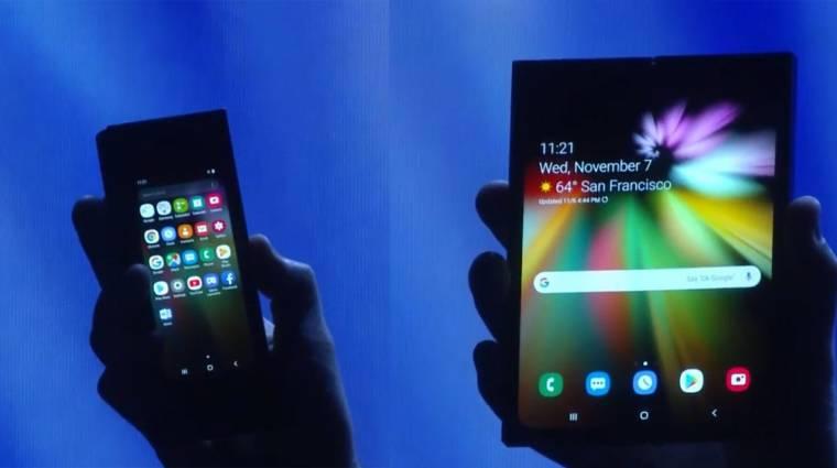 A Samsung megvillantotta az első összehajtható okostelefonját kép