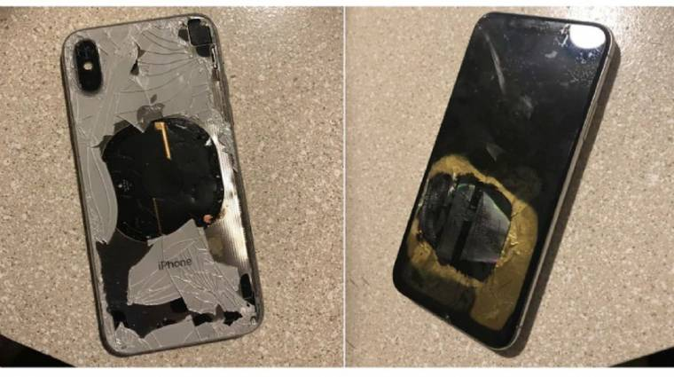 Frissítés közben gyulladt ki egy iPhone X kép