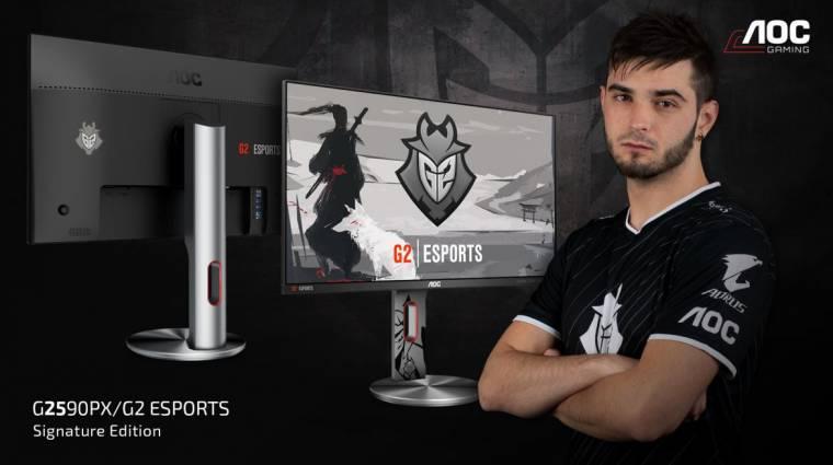 Közös monitort villantott az AOC és a G2 Esports kép