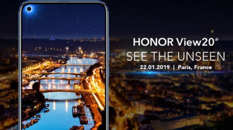 48 megapixeles kamerával és trendi kijelzővel támad a Honor View 20 kép