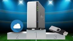 NAS kontra felhő és USB kép