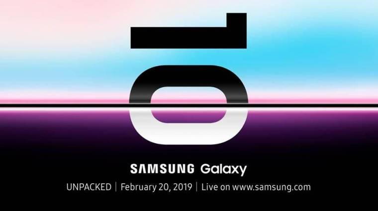 Hivatalos: február 20-án jön a Samsung Galaxy S10 széria kép