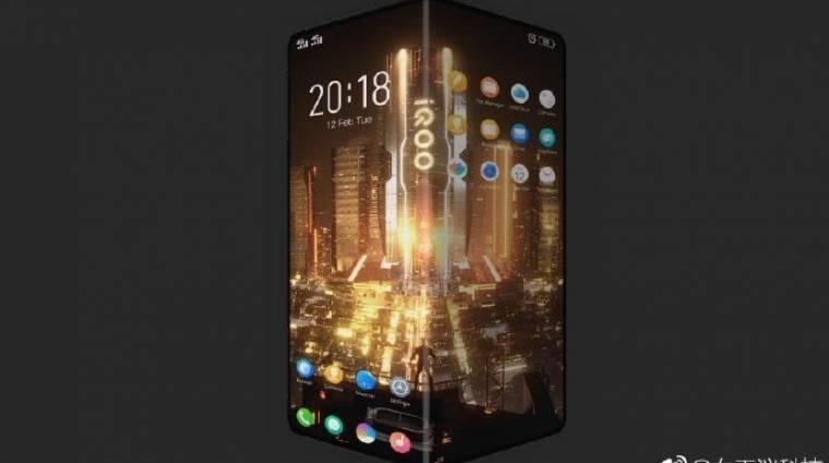 Ez lehet a Vivo összehajtható mobilja kép
