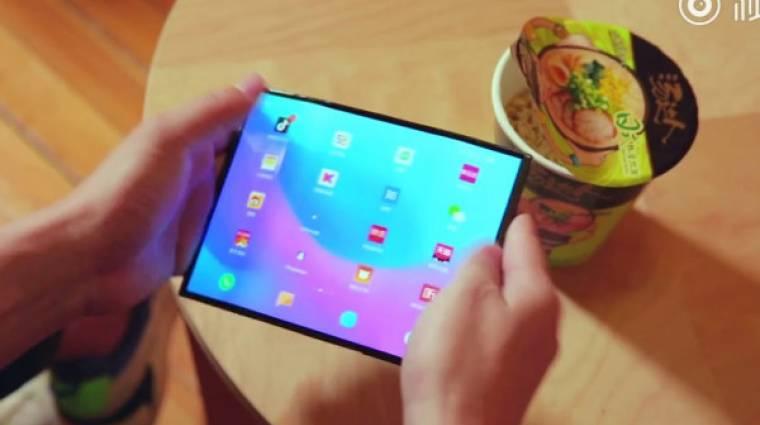 Újabb videón a Xiaomi összehajtható mobilja kép