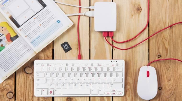 Itt a Raspberry Pi hivatalos egere és billentyűzete kép