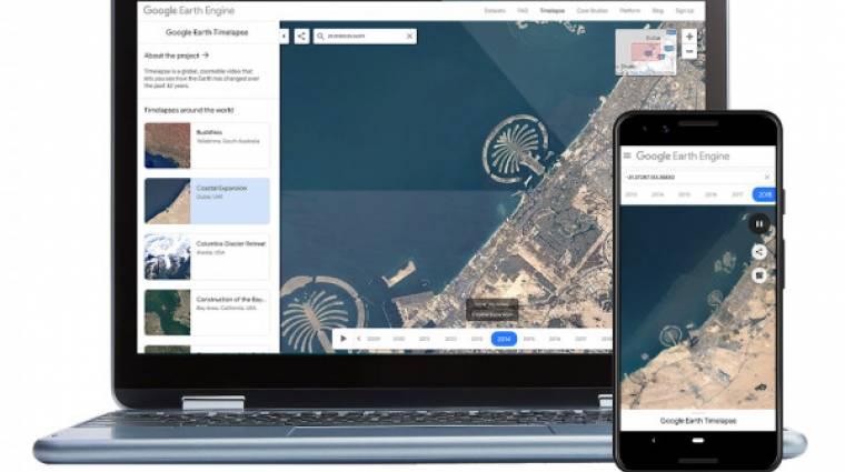 A Google már mobilon is megmutatja, hogyan változott a Föld az utóbbi 35 évben kép