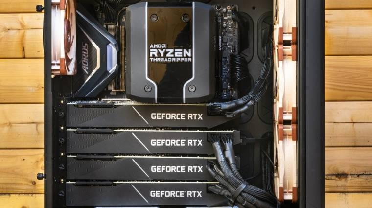 Nagy bravúrt hoztak össze négy GeForce RTX 2080 Ti-vel kép