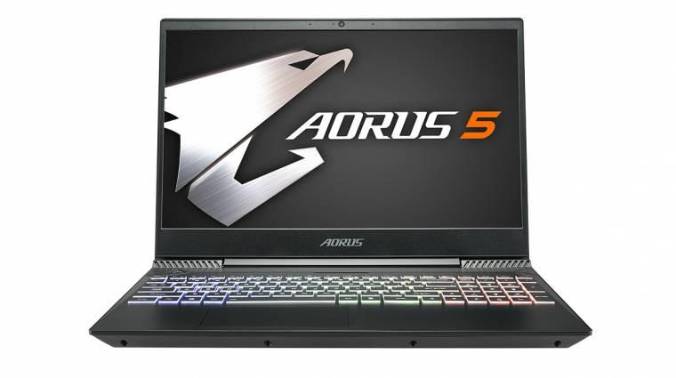 Ütős Aorus 5 gamerlaptoppal készül a Computexre a Gigabyte kép