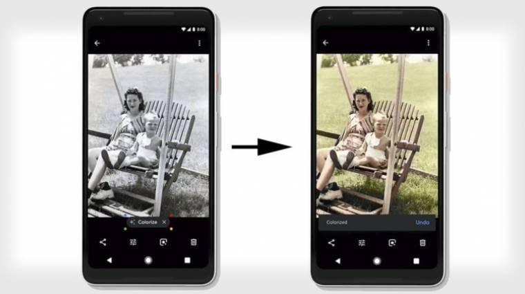 A fekete-fehér fotókat is színessé varázsolja a Google kép
