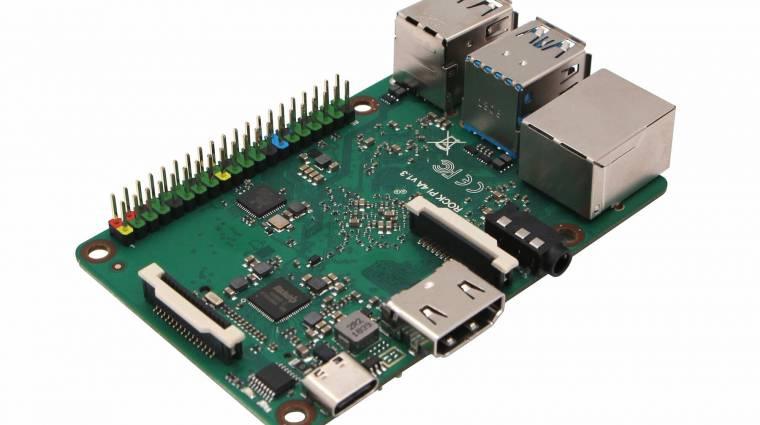 Hasonlít a Raspberry Pi lapka PC-kre a Rock Pi 4 kép