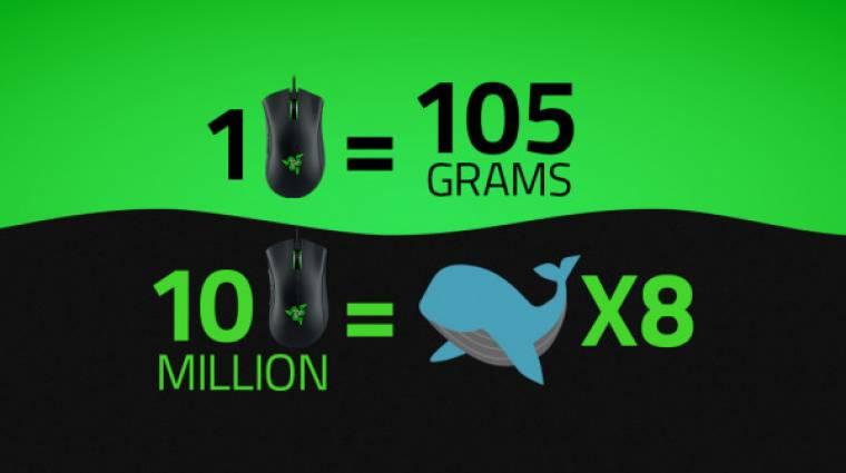 Razer: 10 millió PC-s egér felér 8 kék bálnával kép
