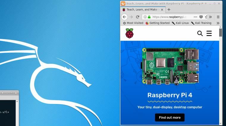 Már a Raspberry Pi 4-re is elérhető a Kali Linux kép