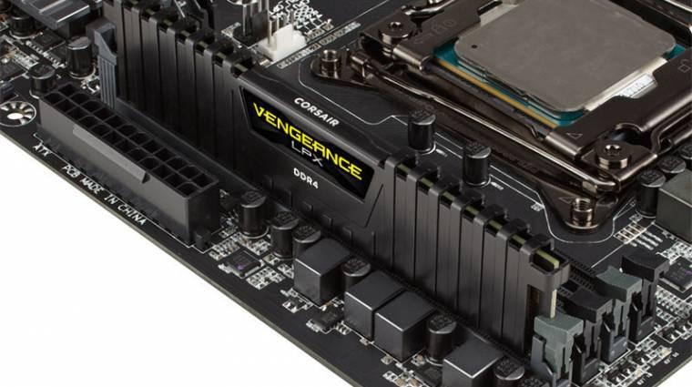 Itt a Corsair 32 GB-os Vengeance LPX DDR4-es memóriamodulja kép